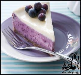 طرز تهیه چیز کیک با ژله بلوبری