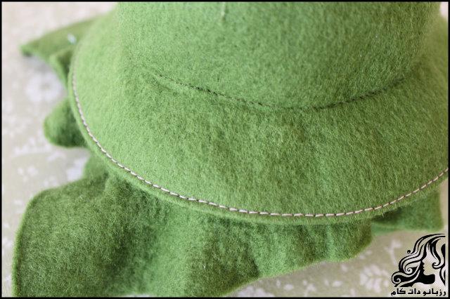 آموزش دوخت کلاه نمدی لبه دار شبیه کلاه عروسک قصه ها نمد دوزی کلاه نمدی کلاه دخترانه کلاه عروسک آموزش دوخت کلاه نمدی لبه دار