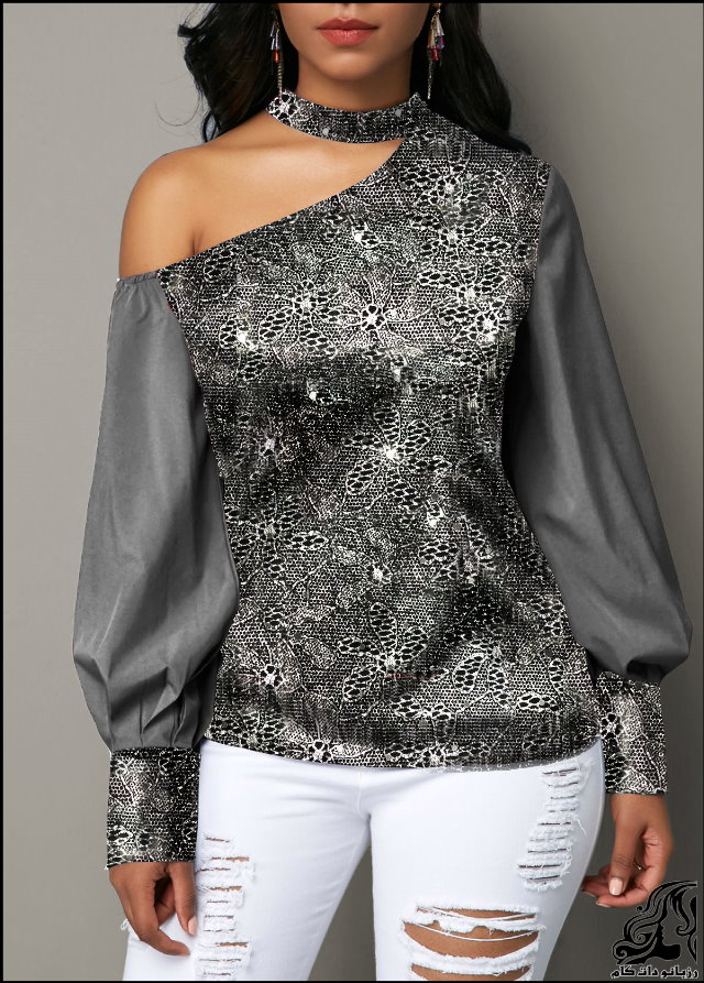 http://up.rozbano.com/view/2753200/Lantern%20Sleeve%20Cutout%20Shoulder%20Shining%20Blouse-06.jpg