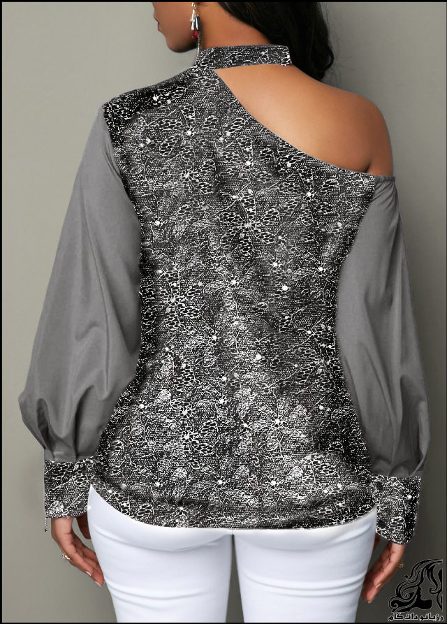 http://up.rozbano.com/view/2753202/Lantern%20Sleeve%20Cutout%20Shoulder%20Shining%20Blouse-08.jpg