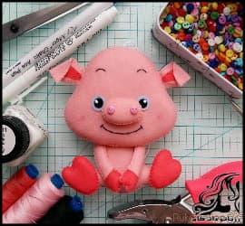 آموزش ساخت خوک نمدی نماد سال 98
