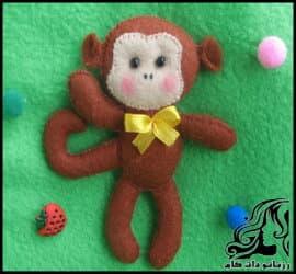 ساخت عروسک میمون نمدی با الگو
