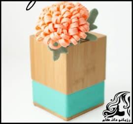 آموزش تصویری ساخت گل داوودی