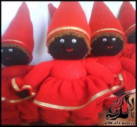 آموزش بافت رج به رج عروسک حاجی فیروز