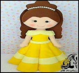 آموزش تصویری ساخت عروسک دختر پرنسس