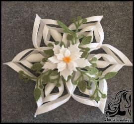 آموزش ساخت گل تزئینی رومیزی