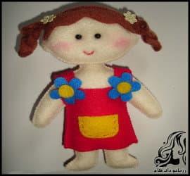 آموزش ساخت دختر عروسکی نمدی