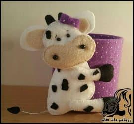 آموزش ساخت جاقاشقی طرح گاو
