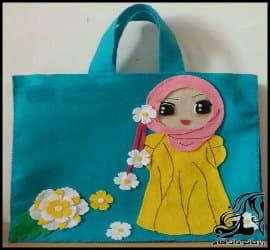 آموزش تصویری دوخت کیف دخترانه