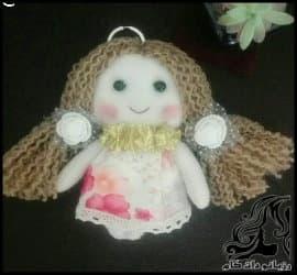 آموزش نصب مو کاموایی برای عروسک