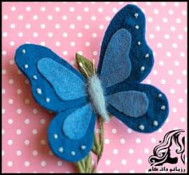 آموزش تصویری ساخت پروانه نمدی زیبا