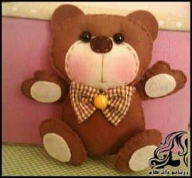 آموزش دوخت عروسک خرس نمدی به همراه الگو