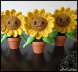 آموزش بافت گل آفتابگردان
