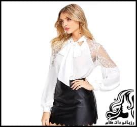 آموزش رسم الگو خیاطی لباس زنانه با یقه فلورین