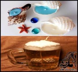 آموزش ساخت شمع دلستری یا آبجویی و شمع صدفی