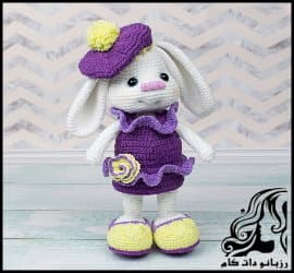 آموزش بافت عروسک خرگوش زیبا قسمت دوم