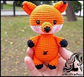آموزش بافت عروسک روباه ریزه میزه