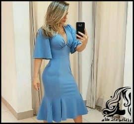 آموزش رسم الگو خیاطی لباس مجلسی بلند زنانه