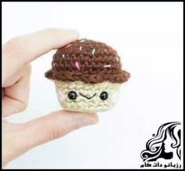 آموزش بافت کاپ کیک قلاب بافی
