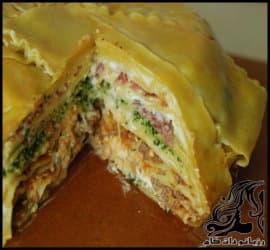 طرز تهیه کیک لازانیا به همراه ویدئو