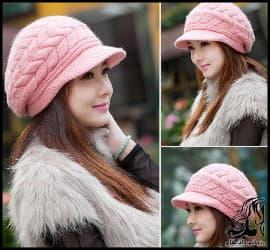 آموزش بافت کلاه زنانه زنانه دومیل