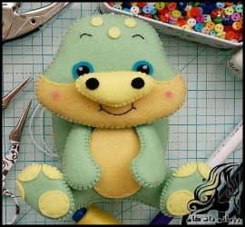 آموزش ساخت عروسک لاک پشت نمدی
