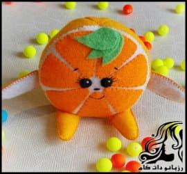آموزش ساخت کاردستی پرتقال دکوری به همراه الگو
