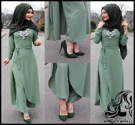 نمونه هایی از مدل مانتو با حجاب دختران عرب
