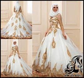 13 مدل لباس عروس عربی و با حجاب