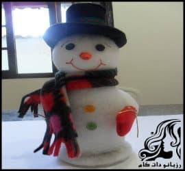 آموزش ساخت عروسک آدم برفی نمدی همراه با الگو