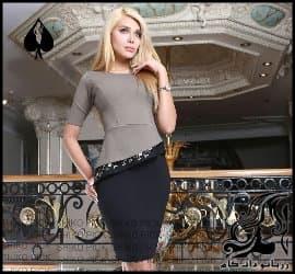 خیاطی و رسم الگو خیاطی پیراهن مجلسی زنانه با لبه خمره ای