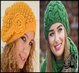 آموزش بافت دو مدل کلاه زنانه مدل نخودی و مدل پیچ