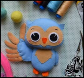 آموزش مرحله به مرحله ساخت عروسک جغد