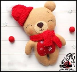 آموزش تصویری ساخت عروسک خرس سال نو