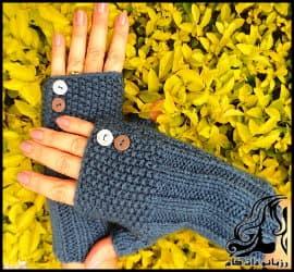 آموزش بافت و قلاب بافی دستکش بدون انگشت