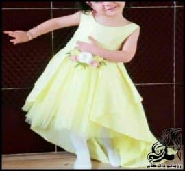آموزش خیاطی رسم الگو خیاطی پیراهن مجلسی کودک