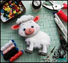 آموزش ساخت عروسک نمدی گوسفند زیبا و با نمک