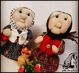 آموزش تصویری ساخت عروسک جورابی مادر بزرگ
