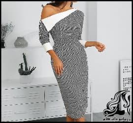 خیاطی و آموزش رسم الگو خیاطی لباس مجلسی فانتزی زنانه
