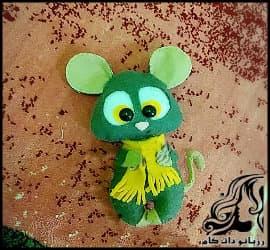 آموزش تصویری ساخت عروسک نمدی موش نماد سال 99