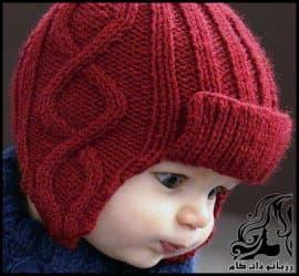 بافتنی و آموزش بافت کلاه رو گوشی دار پسرانه به همراه فیلم