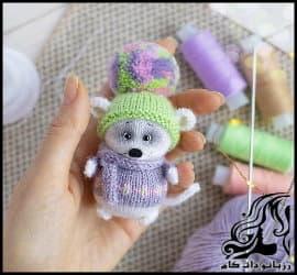آموزش کامل و تصویری بافت عروسک موش ریزه میزه