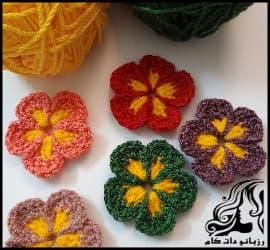 بافتنی و آموزش بافت گل های بهاری به همراه فیلم فارسی
