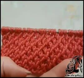 بافتنی و آموزش بافت پترن دونه اناری با فیلم فارسی