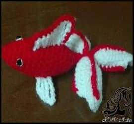 آموزش بافت ماهی قرمز زیبا و جذاب برای سفره هفت سین