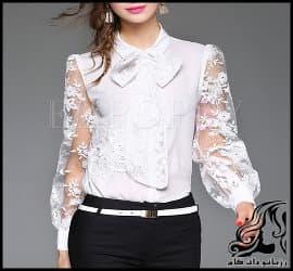 آموزش رسم الگو خیاطی پیراهن زنانه با آستین توری