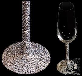 تزئینات آموزش تصویری تزئین جام شیشه ای