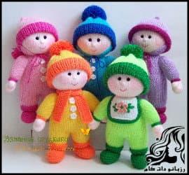 بافتنی و آموزش بافت عروسک بچه های رنگین کمان