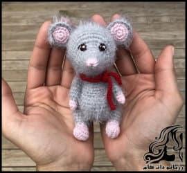 بافتنی و آموزش تصویری بافت عروسک موش کوچولو