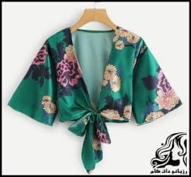 خیاطی و آموزش رسم الگو خیاطی کیمونو سبز رنگ